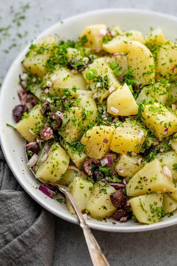 Mediterranean potato salad recipe with dijon mustard