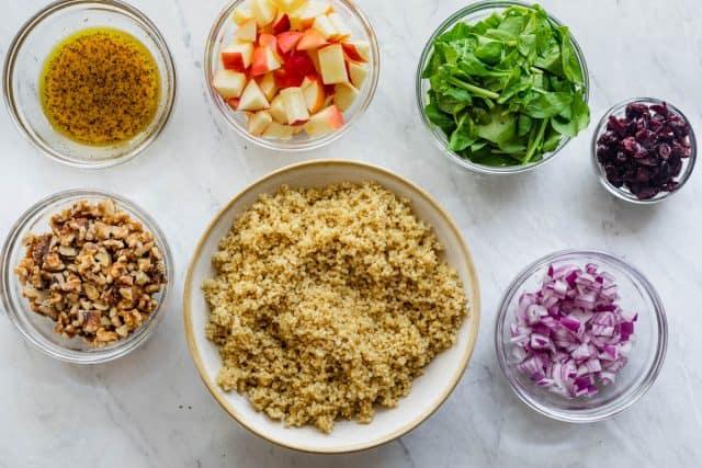 Ingredients to make to make the salad recipe