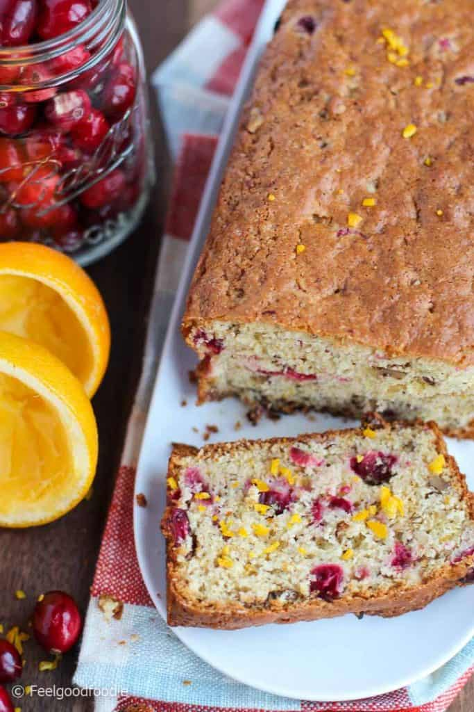 This Cranberry Orange Walnut Bread recipe is great for the holidays, with a tangy somewhat sweet taste with a burst of fresh citrus and cranberry tartness.