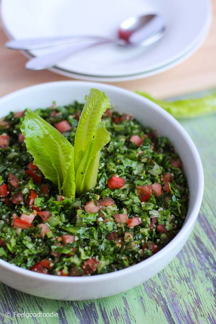 Traditional Lebanese Tabbouleh Salad – Feelgoodfoodie