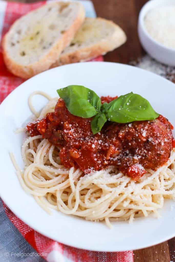 Spaghetti and Meatballs in Marinara Sauce with authentic Italian flavors and an easy homemade recipe that's hearty and comforting for the whole family!