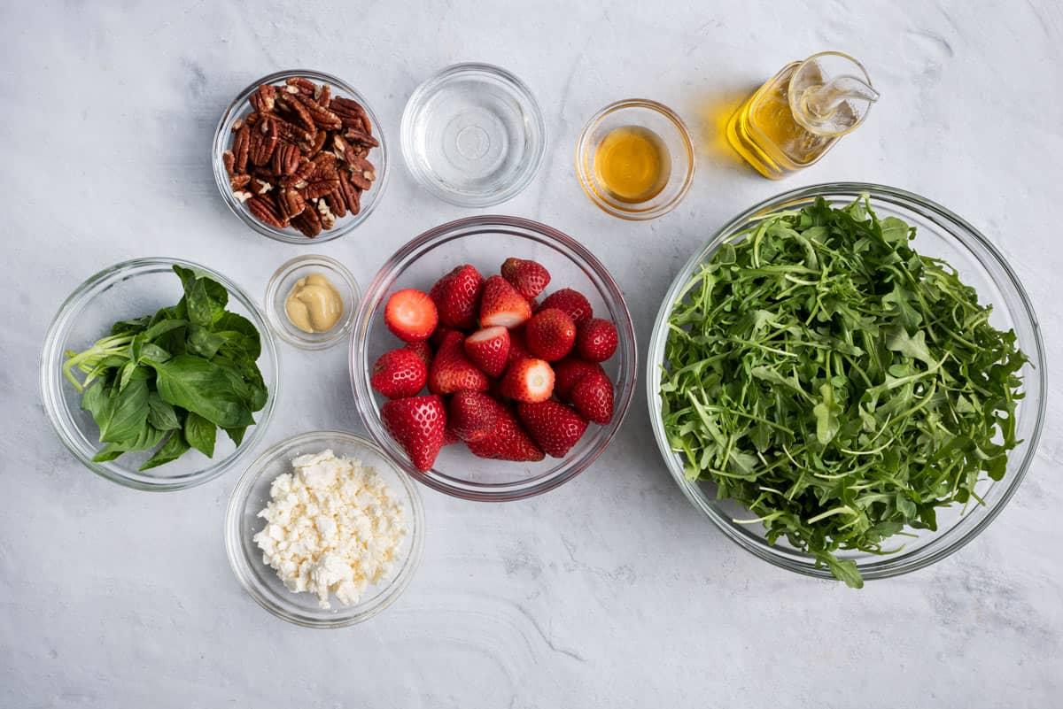 Ingredients to make the salad recipe