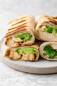 Grilled Chicken broccoli wraps with cheese