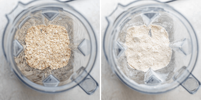 How to make oat flour using oats in a blender