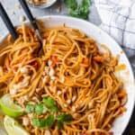 Asian Noodle Salad being served