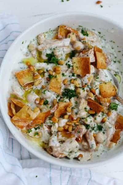 Lebanese Chicken Fatteh Feelgoodfoodie