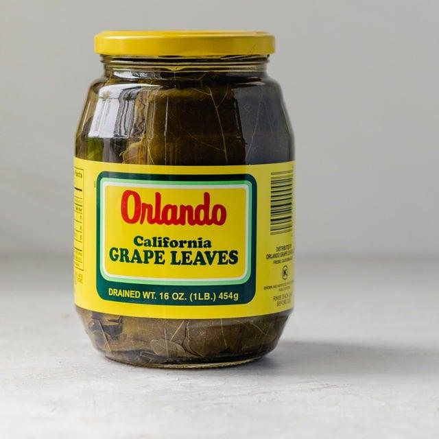 Jar of Orlando grape leaves - warak enab
