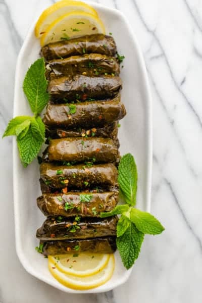 Lebanese Stuffed Grape Leaves (Warak Enab)