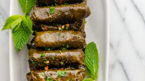 Lebanese Stuffed Grape Leaves Warak Enab Feelgoodfoodie