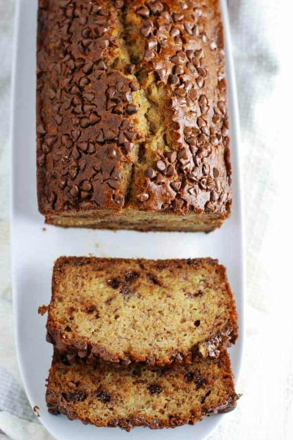 Whole wheat chocolate chip banana bread feelgoodfoodie this whole wheat chocolate chip banana bread is a healthy easy recipe that you can easily forumfinder Gallery