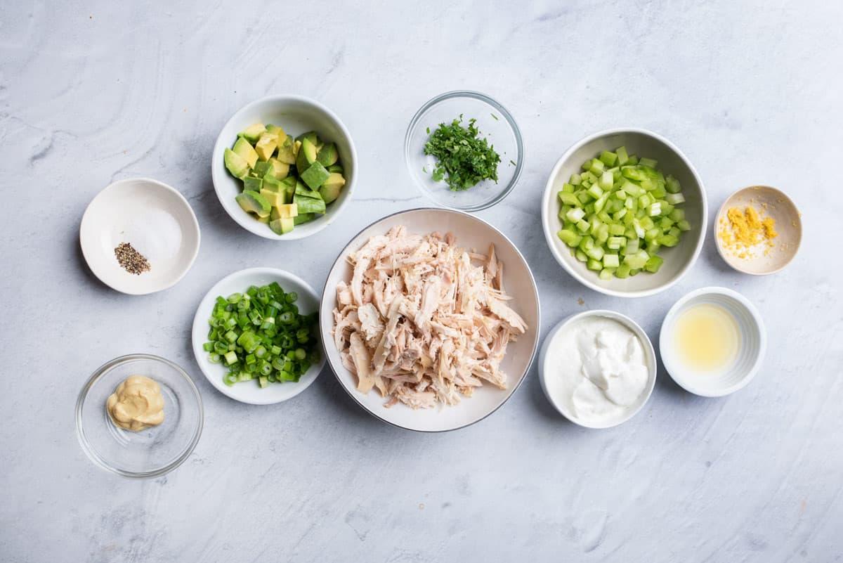 Ingredients to make the salad