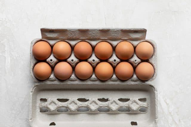Carton of 12 eggs to make the recipe