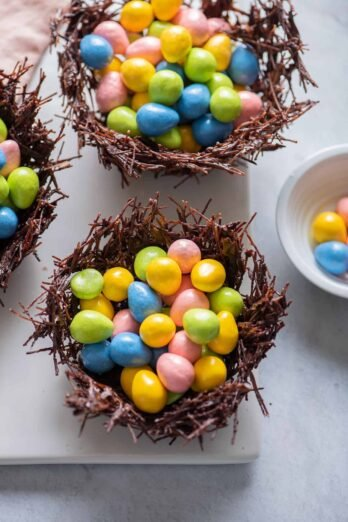 Overhead shot of Chocolate Nests