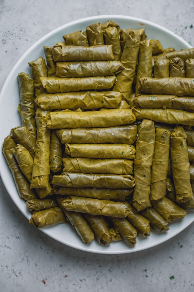 Vegetarian Stuffed Grape Leaves Feelgoodfoodie