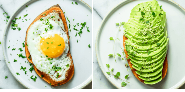 Savory sweet potato toast ideas