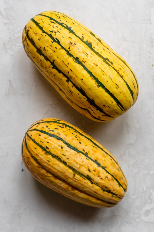 Two delicata squashes