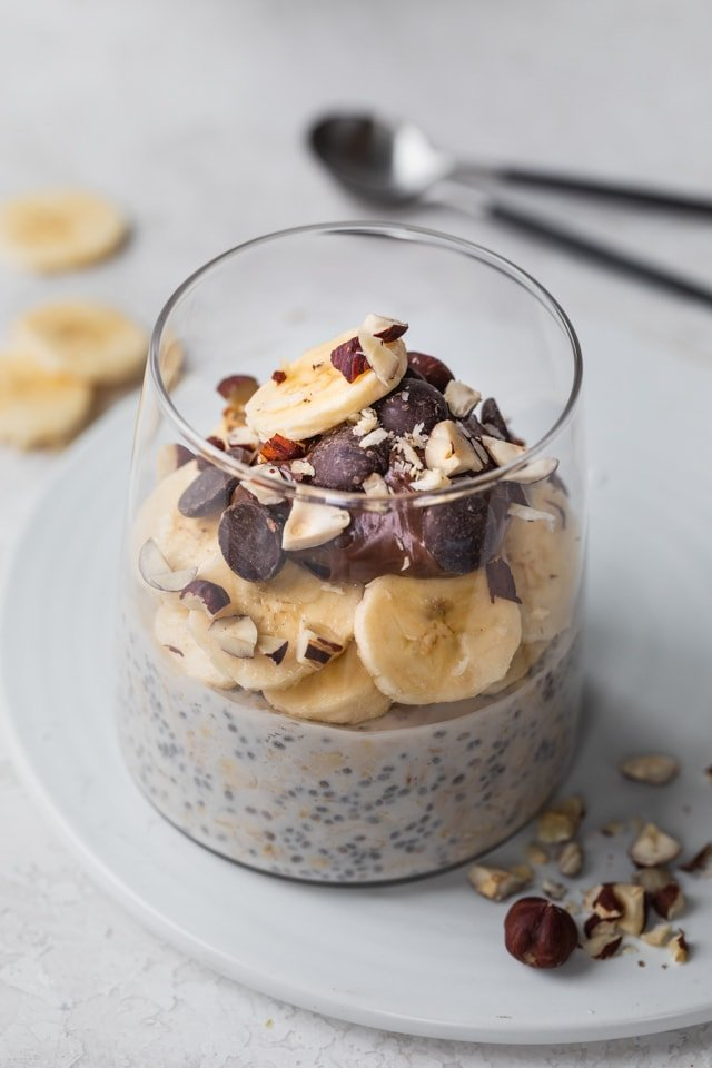 Banana Nutella Overnight Oats