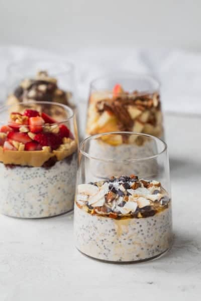 4 ways to make overnight oats