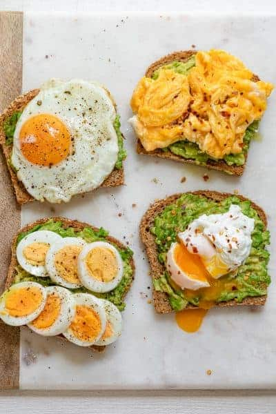 Avocado Toast with Egg - 4 Ways
