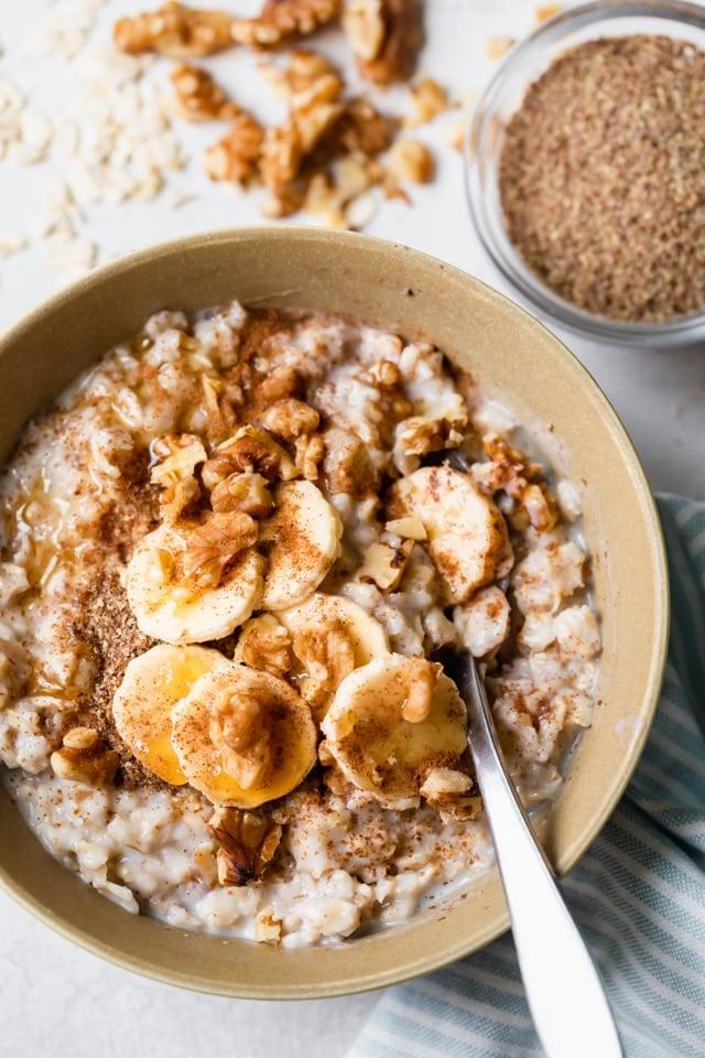 How to make oatmeal - banana nut variation