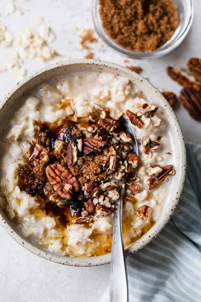 How to make oatmeal - maple brown sugar variation