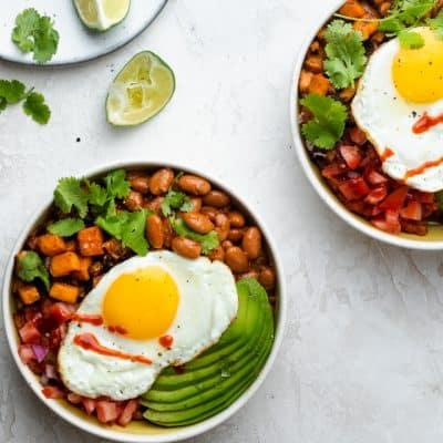 Two tex mex breakfast bowl recipes