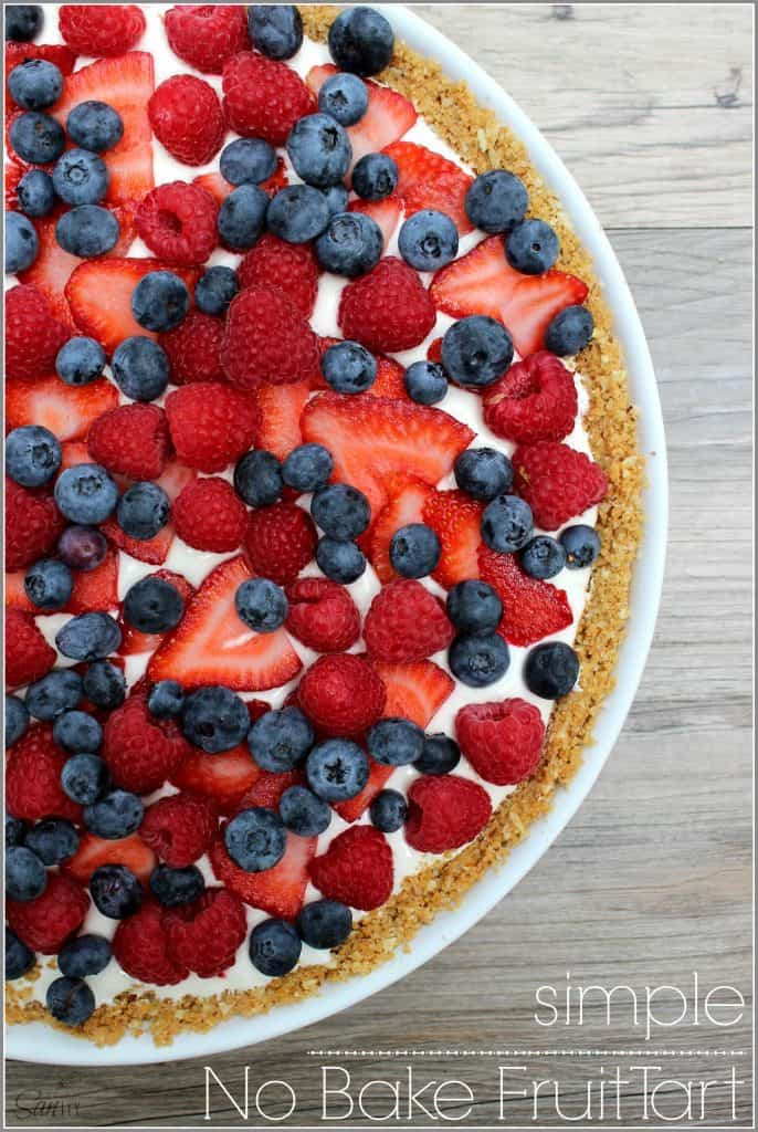 A summer fruit no bake tart
