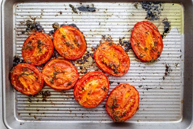 Tomatoes after roasting in the oven