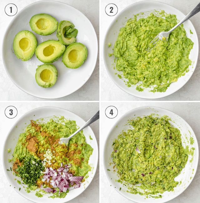 How to make guacamole collage step by step