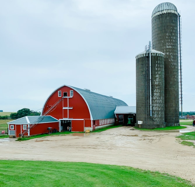 Farm tour in Wisconsin