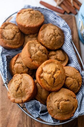 Large basket of the chia spiced muffins