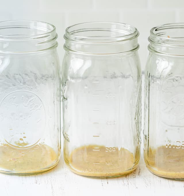 Dressing in the jars