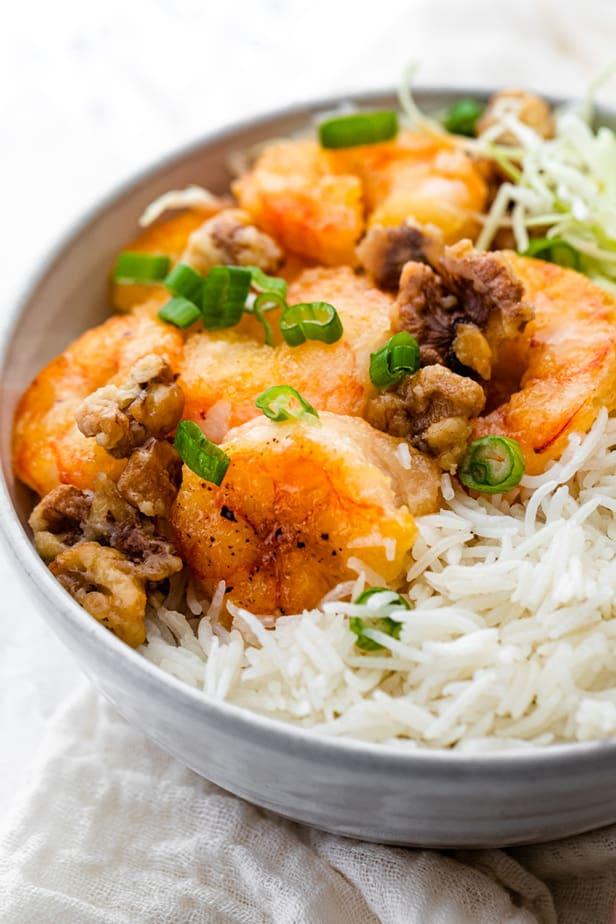 Honey walnut shrimp recipe inspired by Panda Express