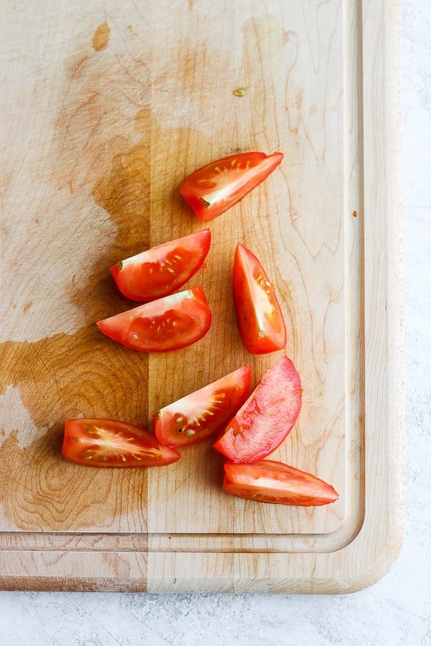 Perfect wedges of tomatoes for salads