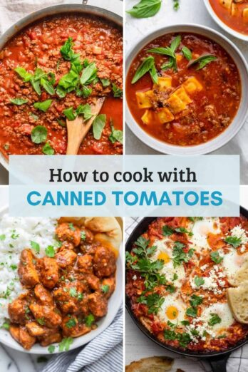 How to cook with canned tomatoes - tips, guidelines and recipes