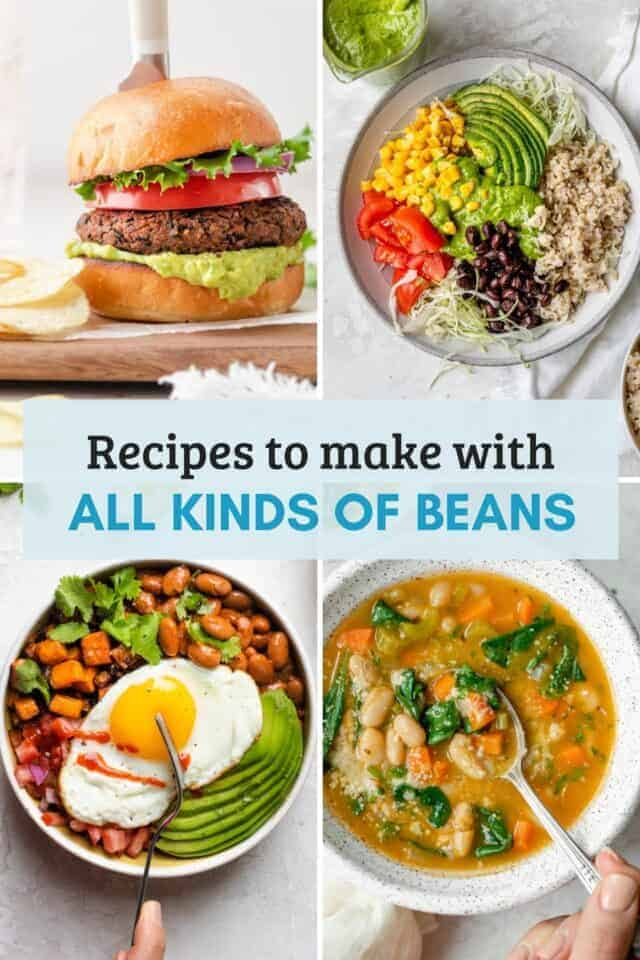 Collage for 16 bean recipes