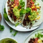 Walnut tacos served on a plate