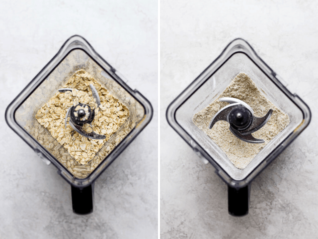 how to make oat flour in a food processor