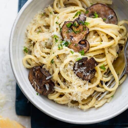 Creamy Garlic Mushroom Pasta Recipe Feelgoodfoodie