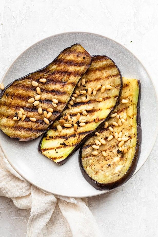 Eggplant after grilling