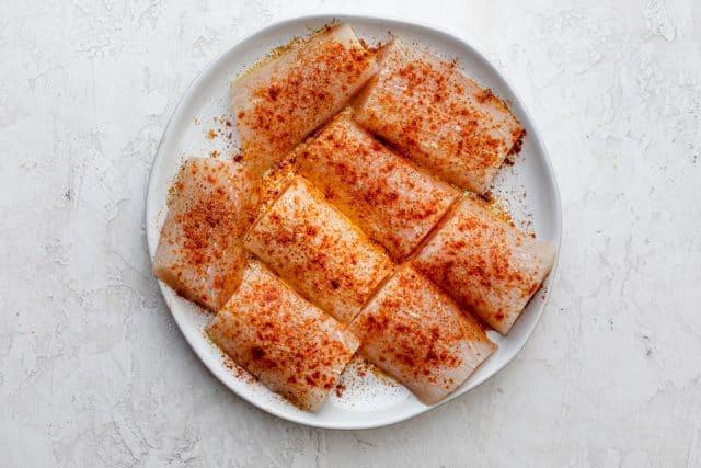 Mahi Mahi fillets with seasoning