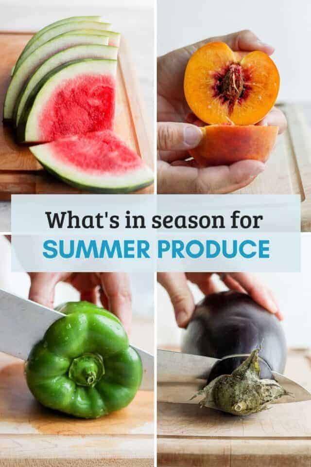 What's in season during the summer - tips and guidelines for shopping