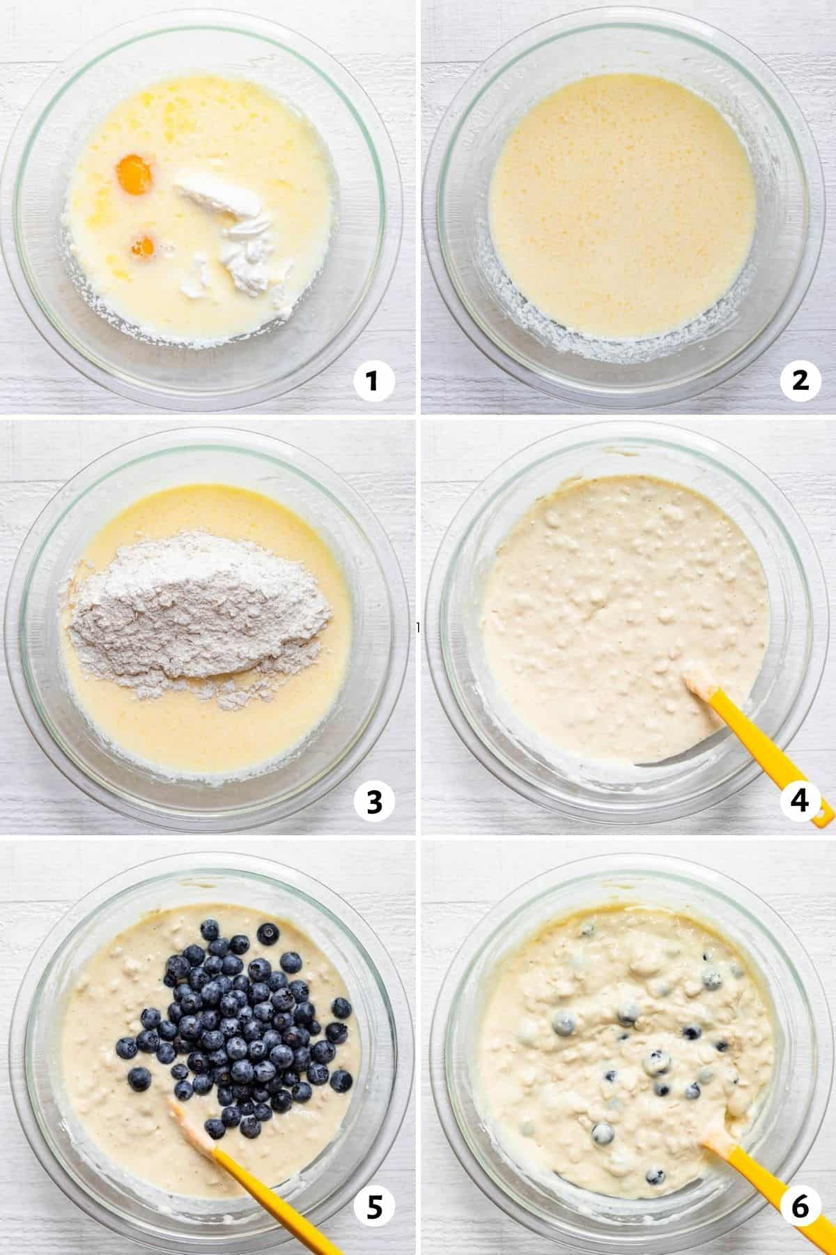 Step by step instructions for how to make the pancakes