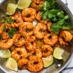 Final cooked cilantro and chili lime shrimp