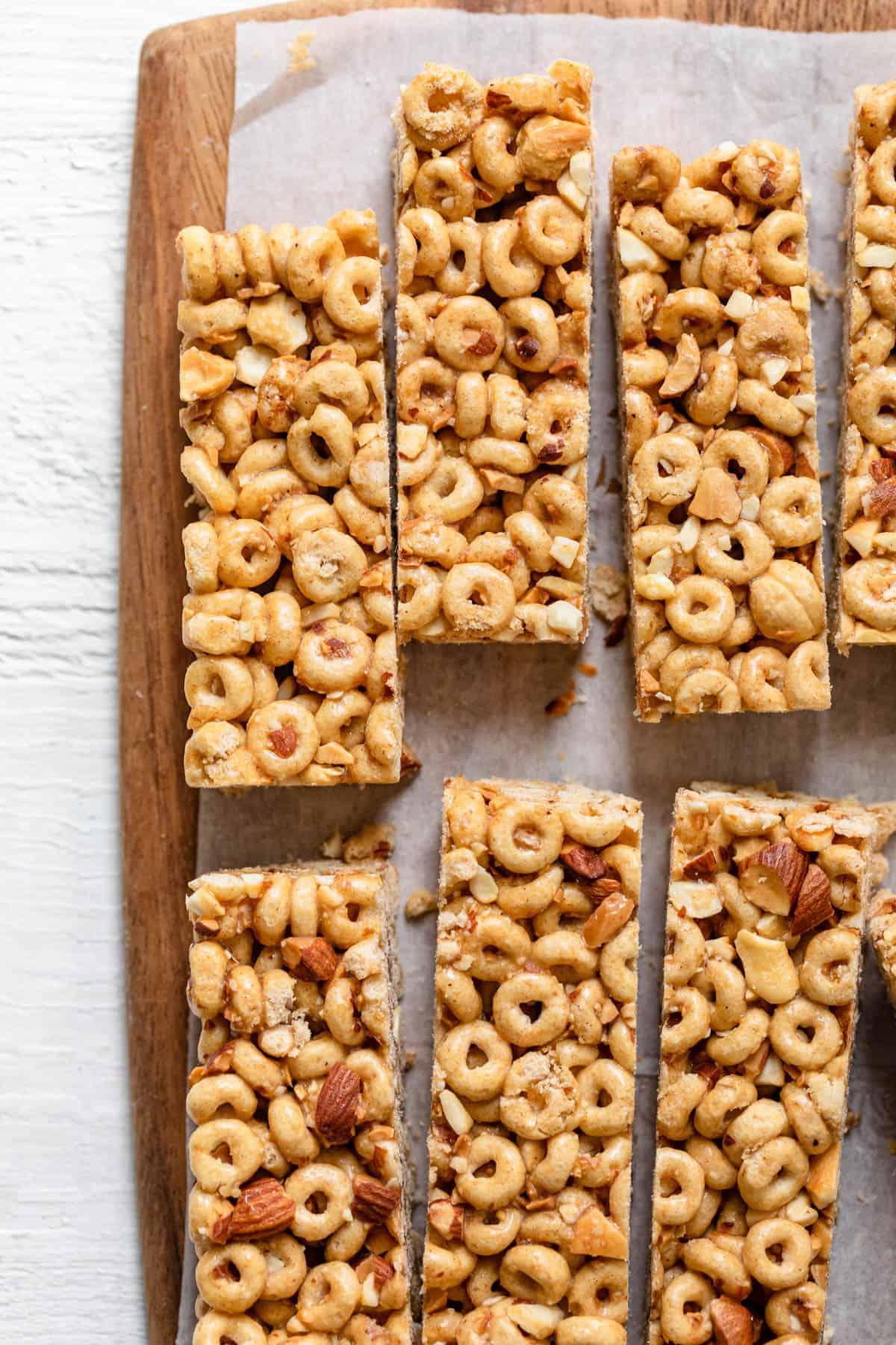 Homemade easy honey nut cheerios bars