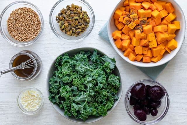 Ingredients to make the bowl recipe