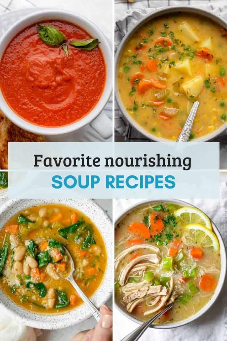 recipe collection / roundup for top healthy soup recipes