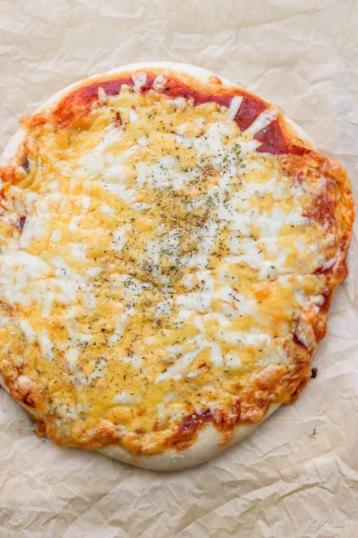 Cheesy homemade pizza dough