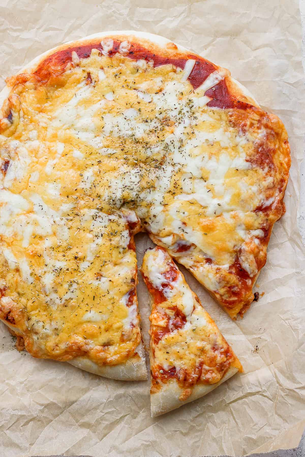 Slice of pizza cut out