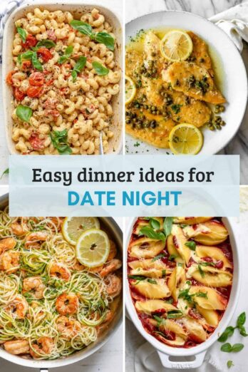 Recipe roundup /collection of date night dinners - valentine's day